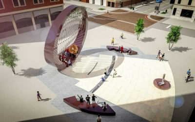 "Proposed Iowa City Public Art Installation – ""The Lens"""