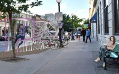 Commentary on Iowa City's new artistic downtown bike parklet